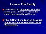 love in the family1