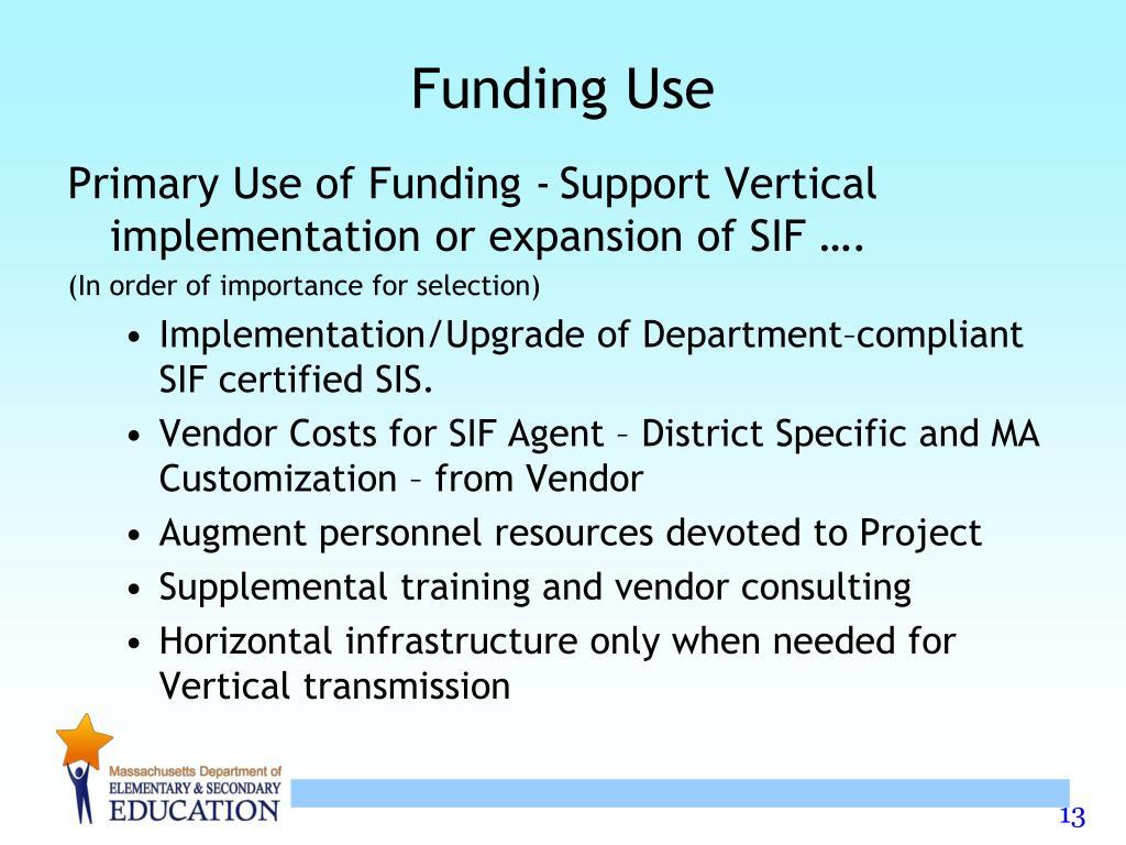 Funding Use