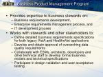 business product management program