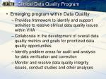 clinical data quality program