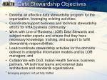 data stewardship objectives