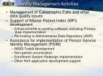 identity management activities