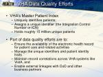 vha data quality efforts