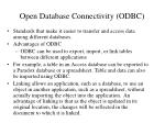 open database connectivity odbc