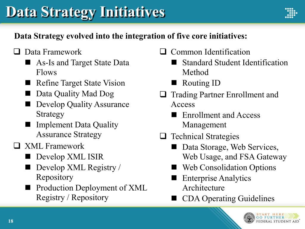 Data Strategy Initiatives