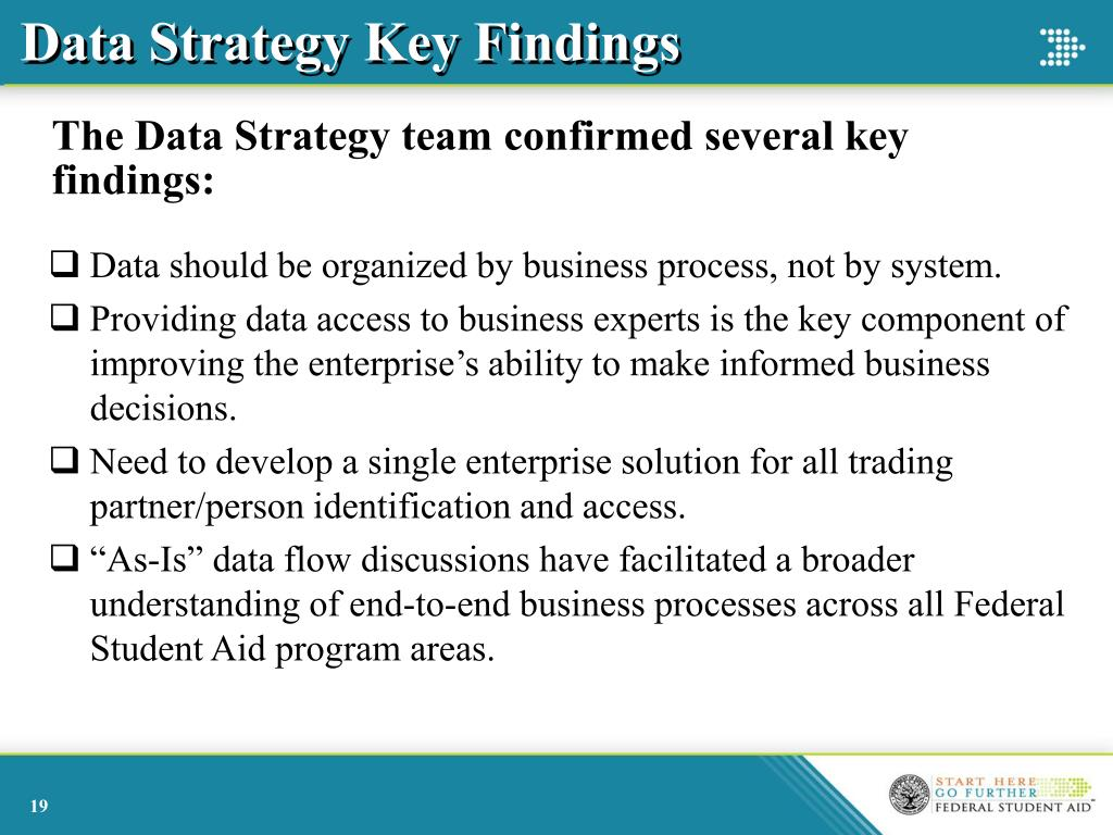Data Strategy Key Findings