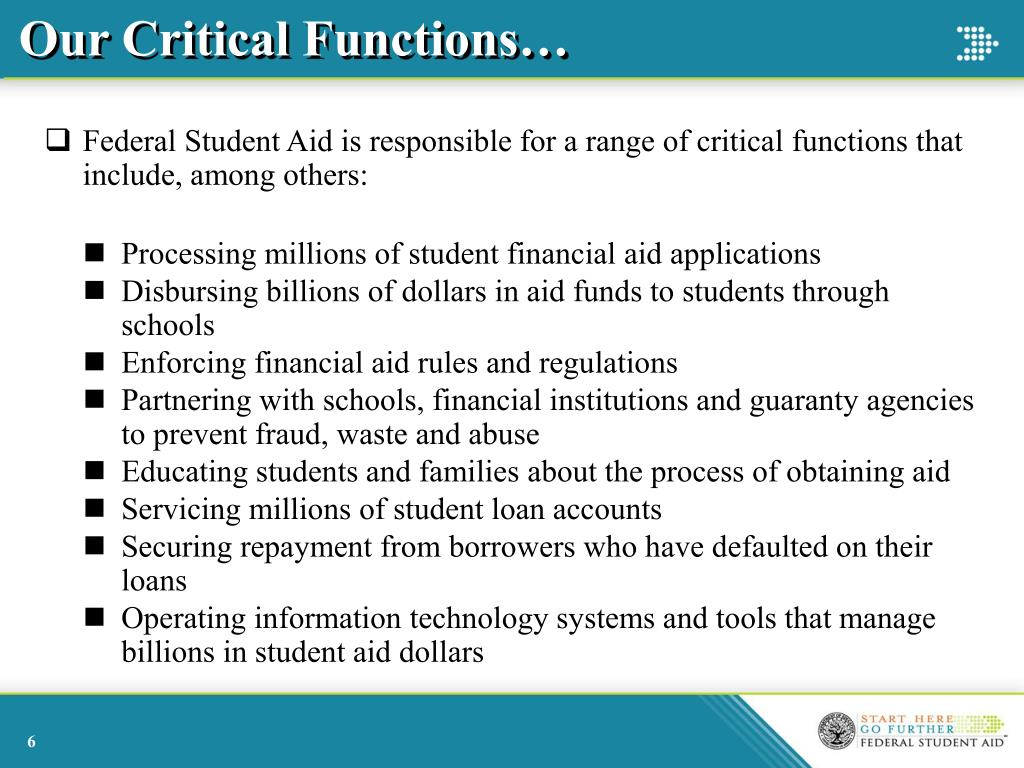 Our Critical Functions…