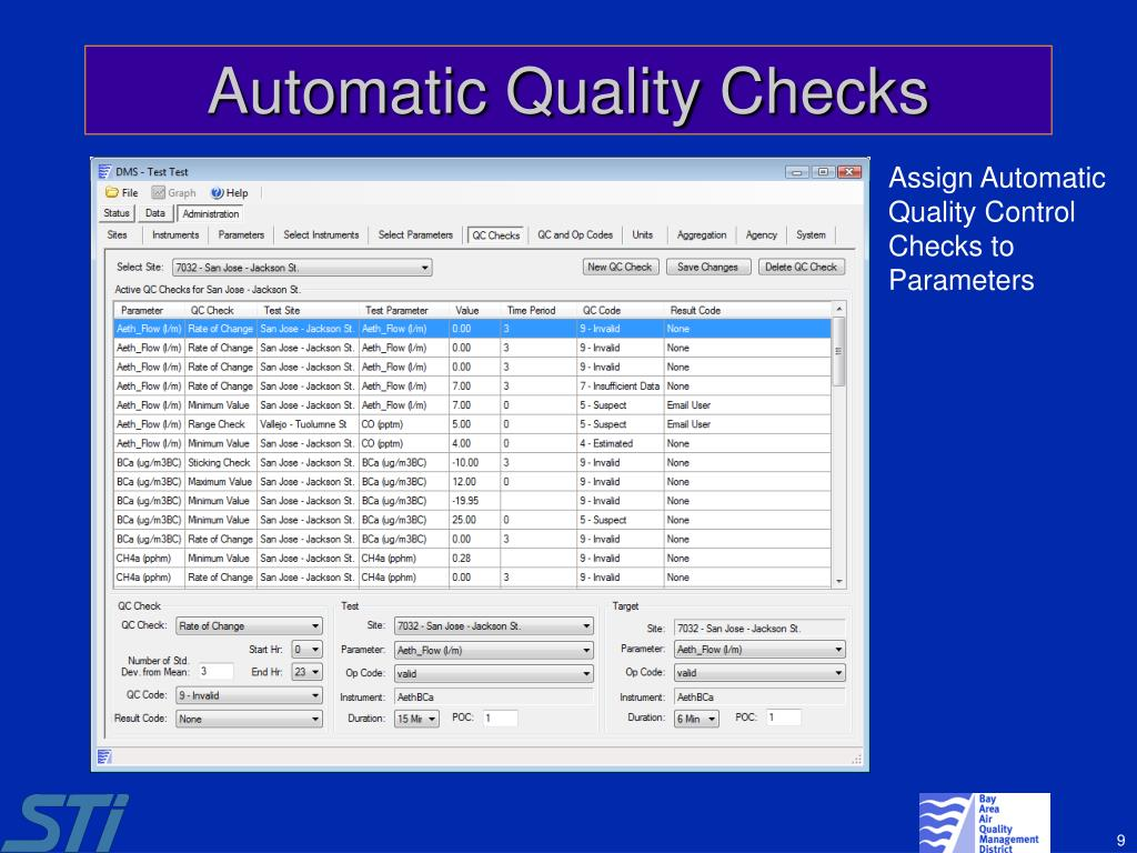 Automatic Quality Checks