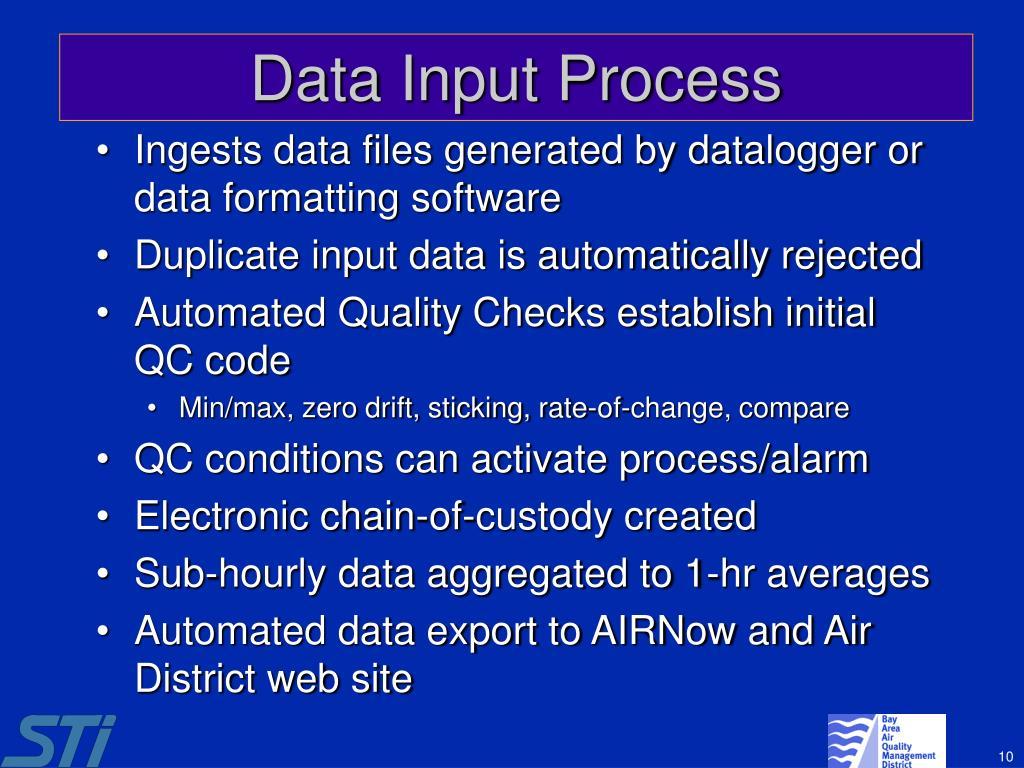 Data Input Process