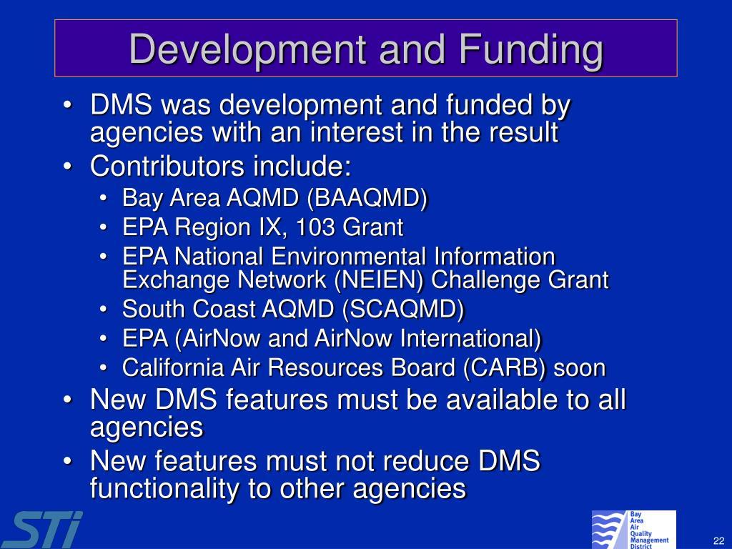 Development and Funding