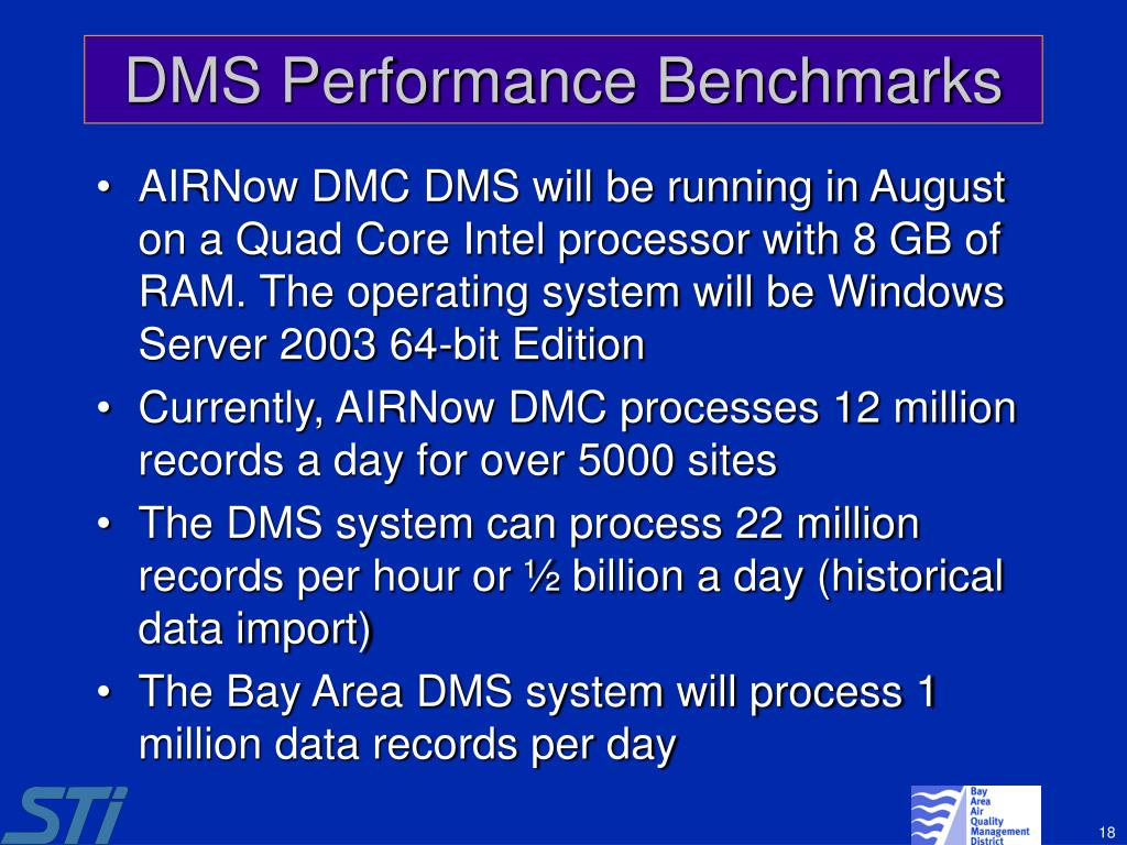 DMS Performance Benchmarks