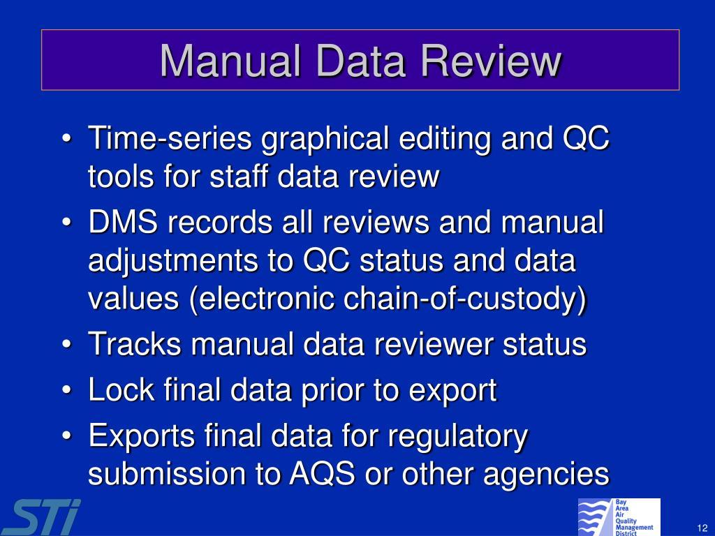 Manual Data Review