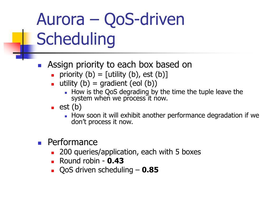 Aurora – QoS-driven Scheduling