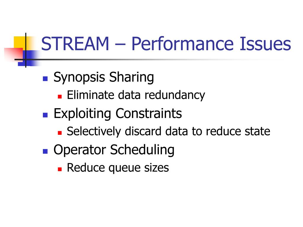 STREAM – Performance Issues