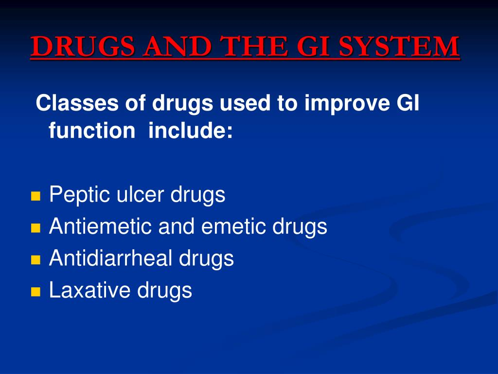 PPT - Drugs Acting On Gastrointestinal Tract PowerPoint Presentation