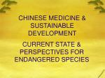 chinese medicine sustainable development