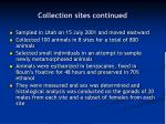 collection sites continued41