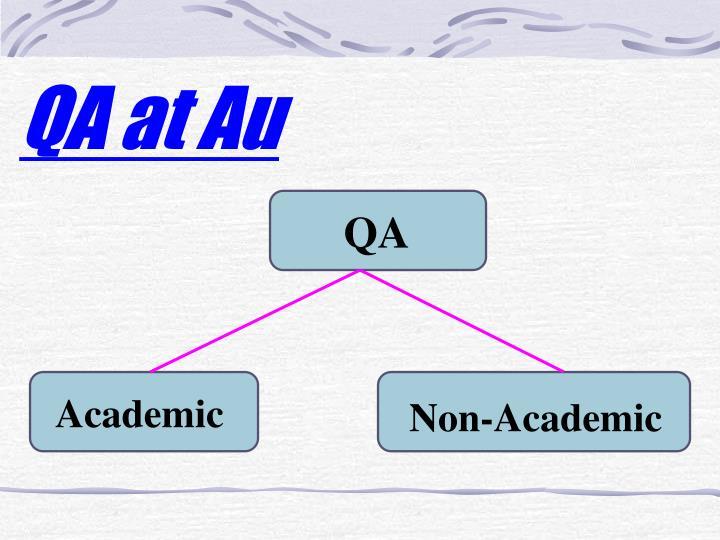QA at Au