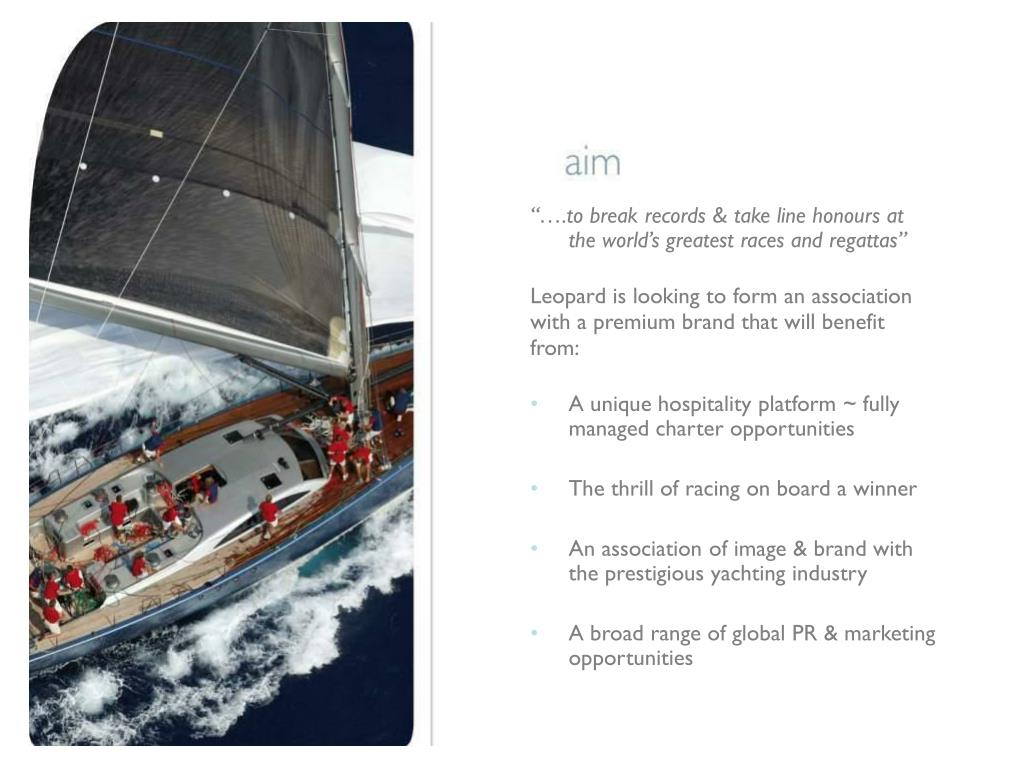 """""""….to break records & take line honours at the world's greatest races and regattas"""""""