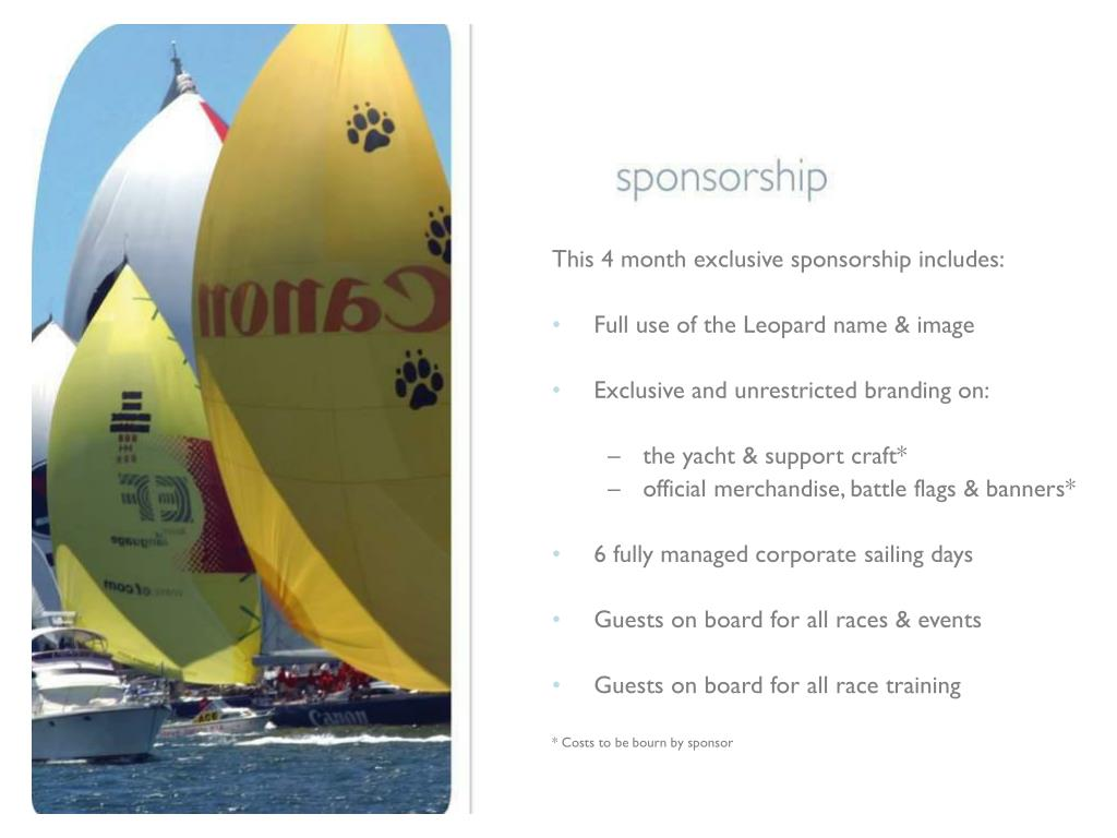 This 4 month exclusive sponsorship includes: