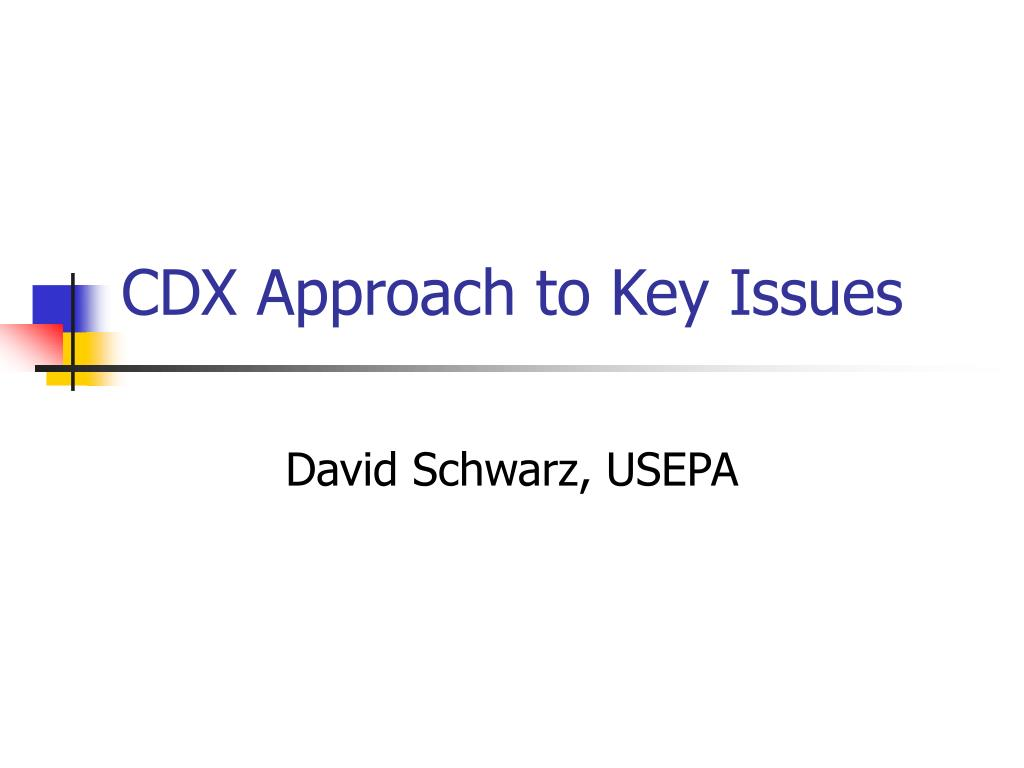 CDX Approach to Key Issues