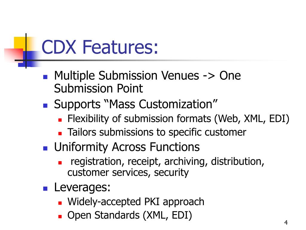 CDX Features: