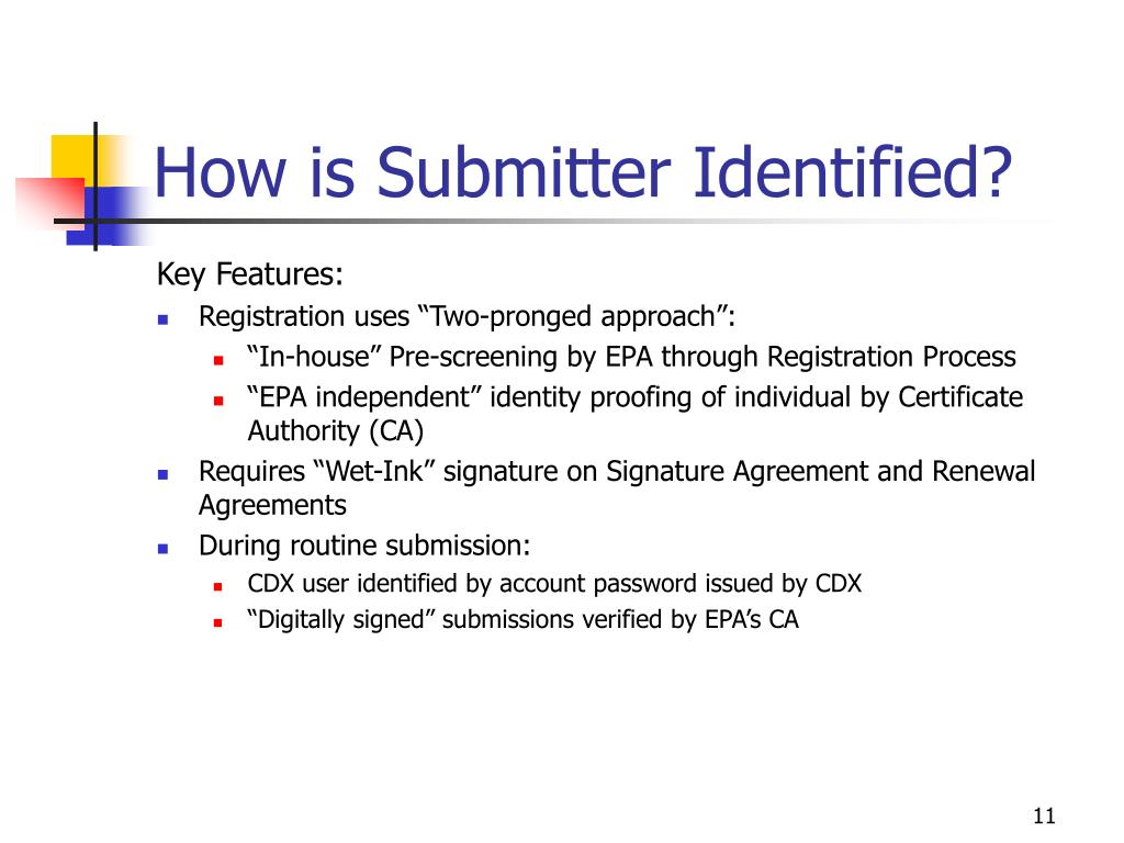How is Submitter Identified?