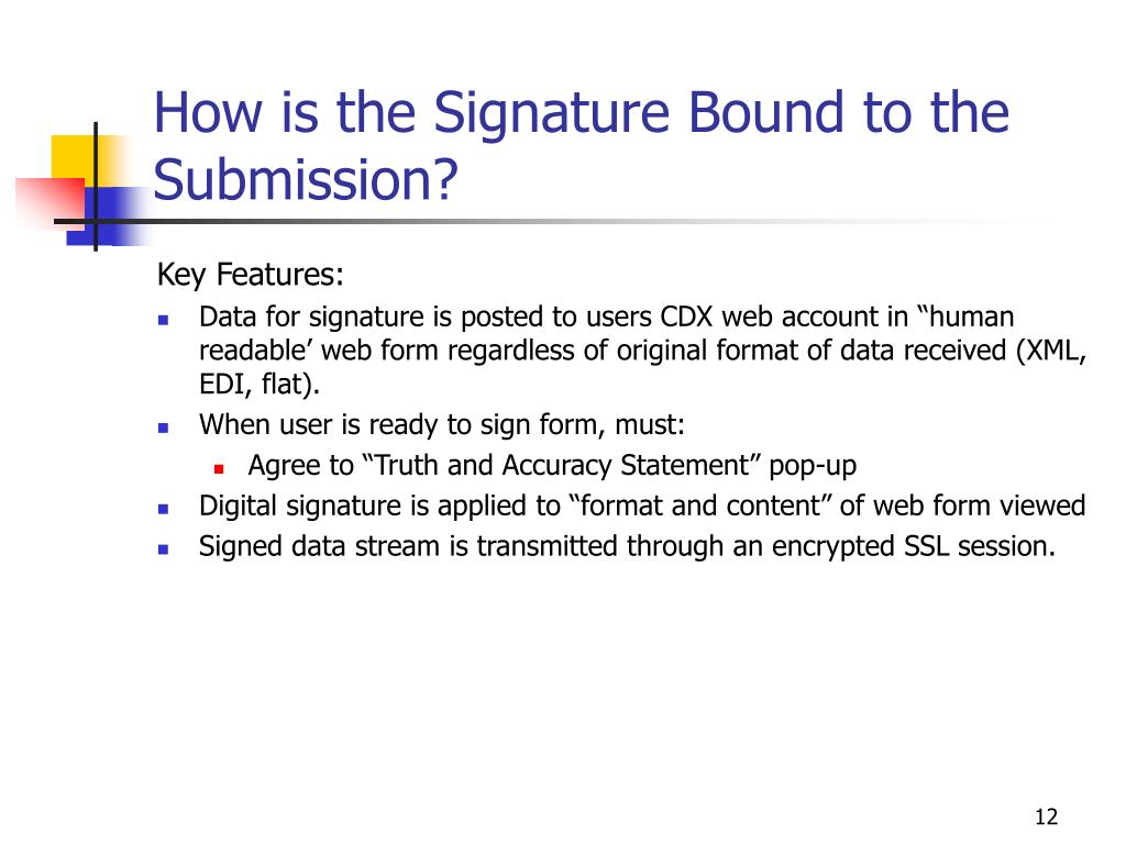 How is the Signature Bound to the Submission?