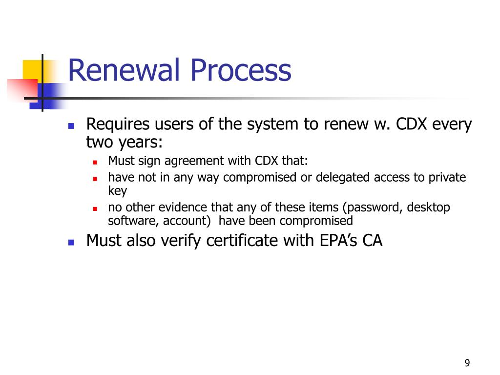 Renewal Process