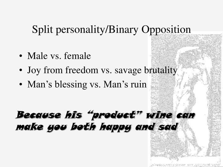 Split personality binary opposition