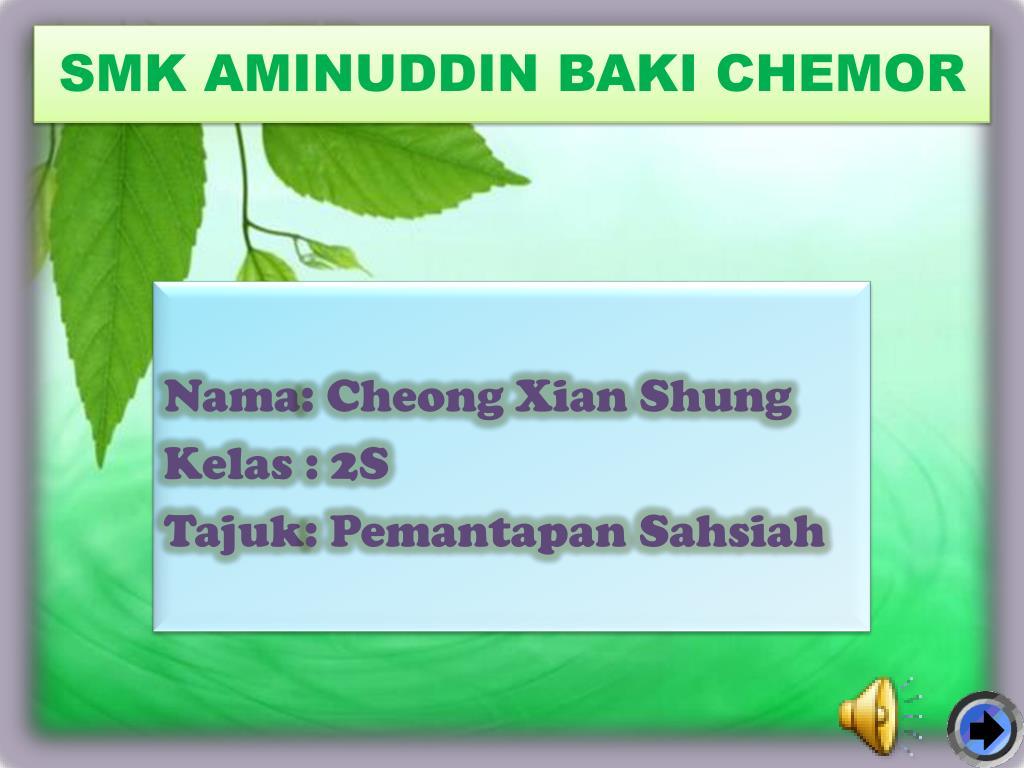 smk aminuddin baki chemor l.