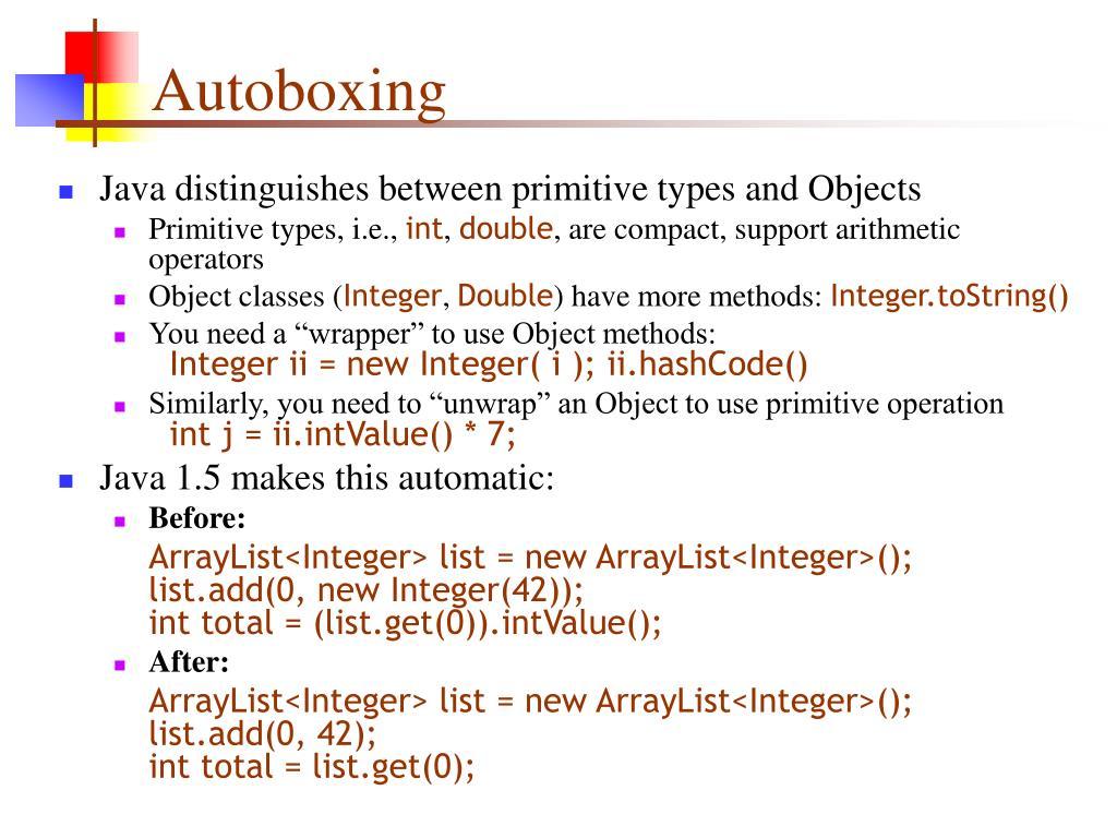 Autoboxing