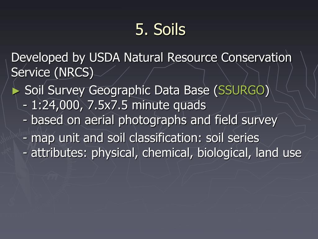 5. Soils