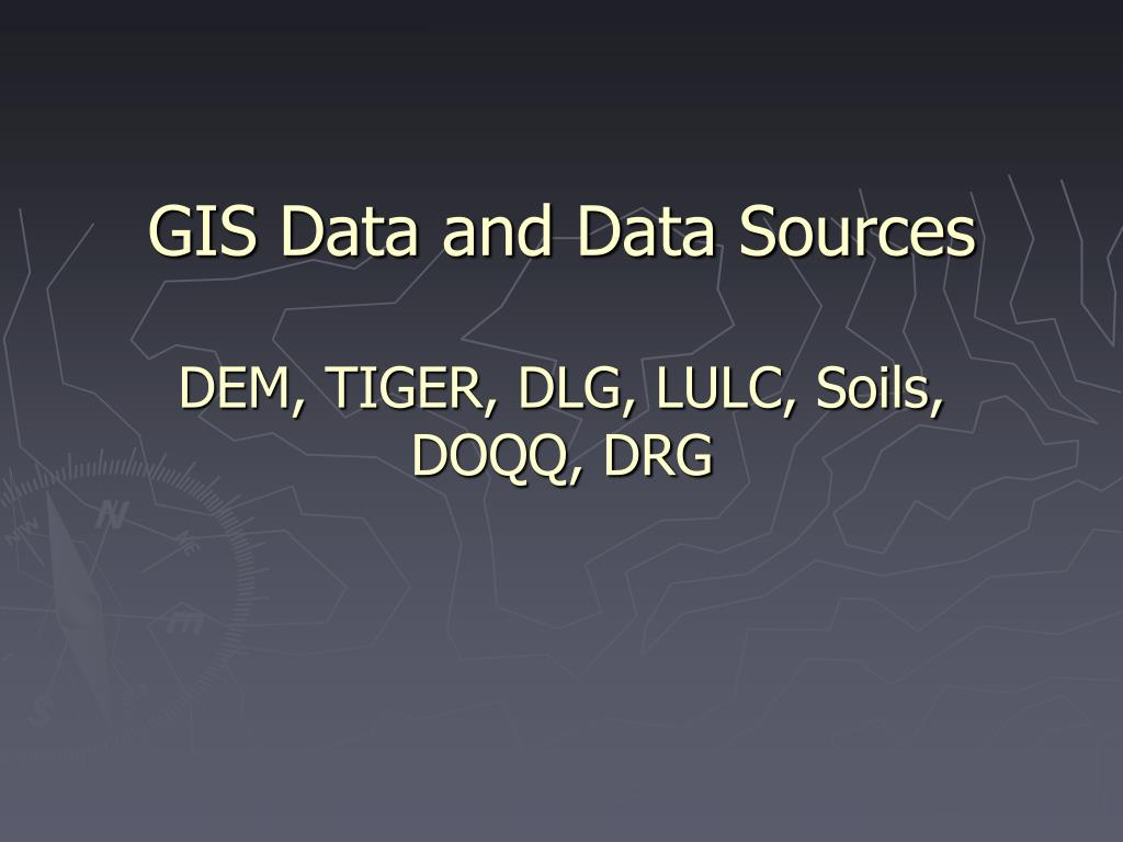 GIS Data and Data Sources