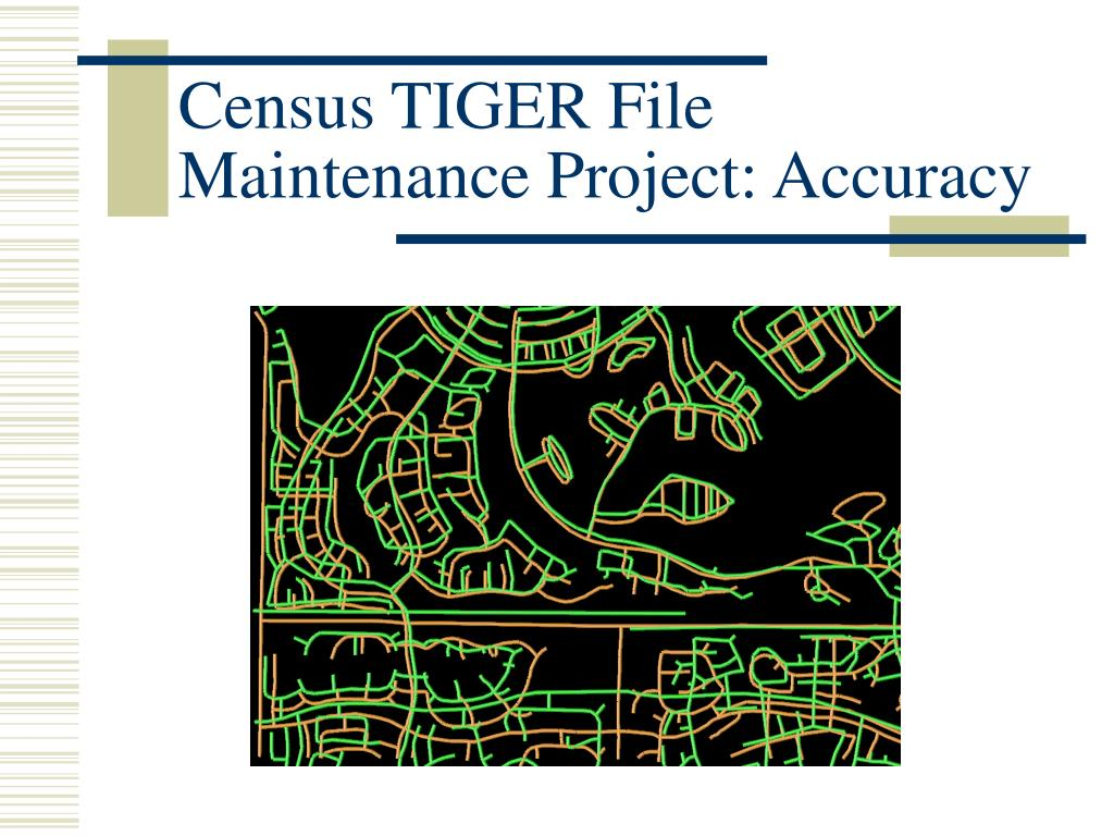 Census TIGER File Maintenance Project: Accuracy
