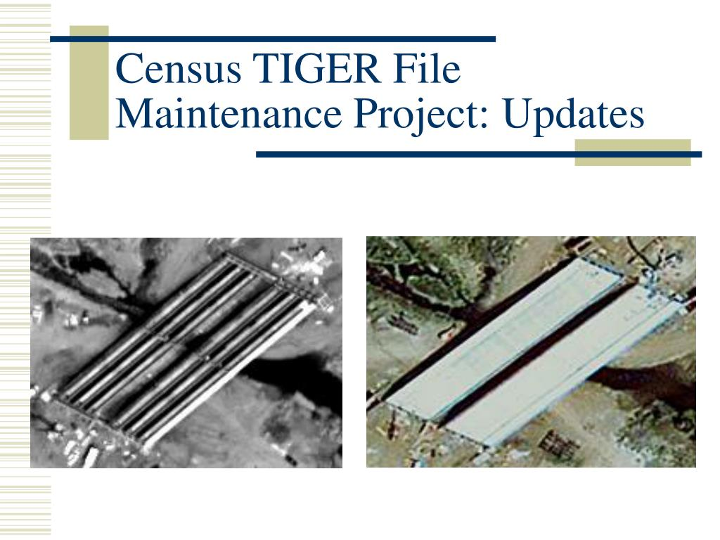 Census TIGER File Maintenance Project: Updates