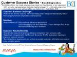 customer success stories blood diagnostics