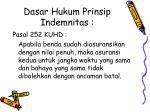 dasar hukum prinsip indemnitas