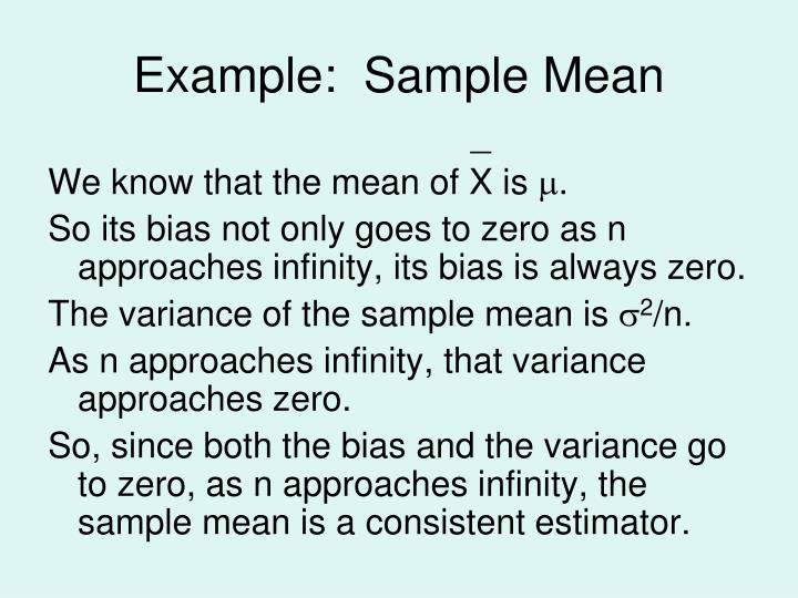 Example:  Sample Mean
