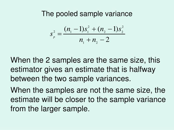 The pooled sample variance