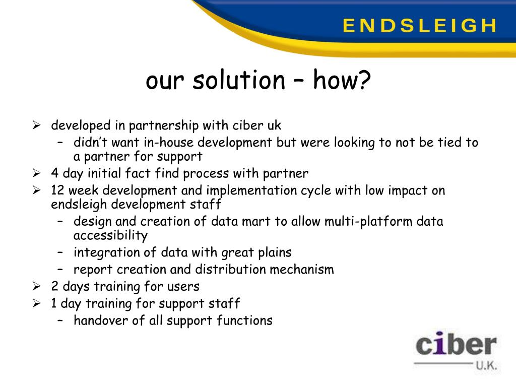 our solution – how?