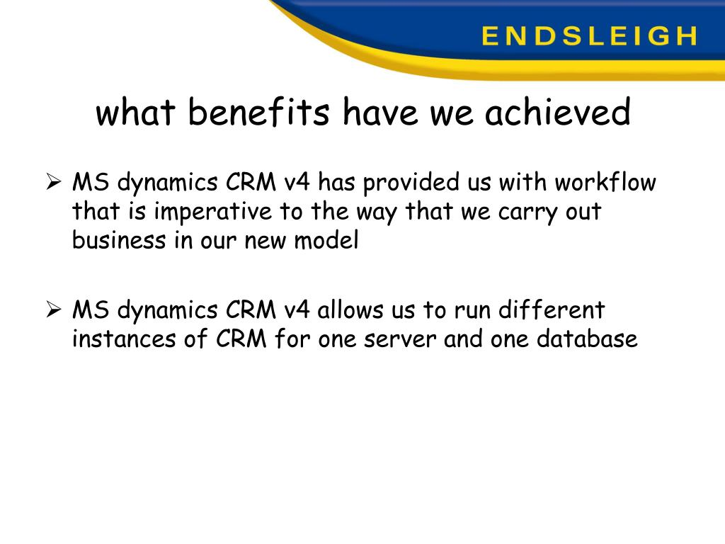 what benefits have we achieved