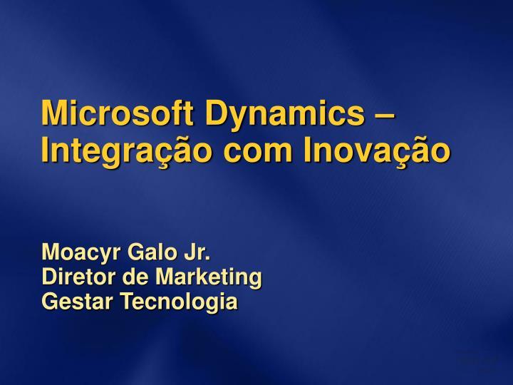 Microsoft dynamics integra o com inova o