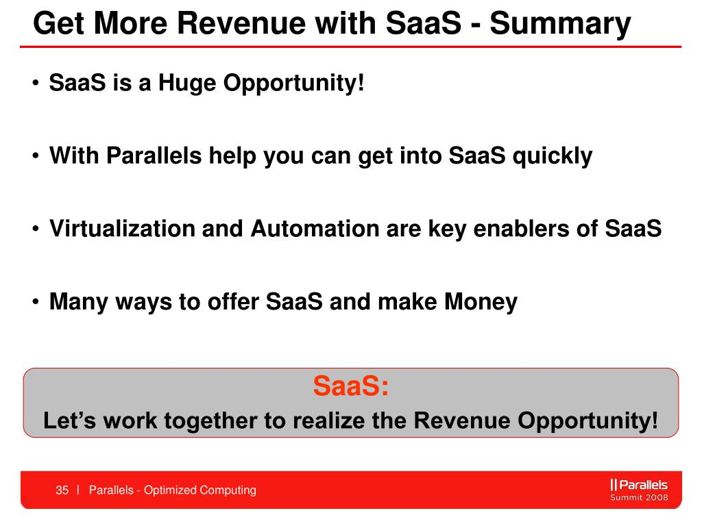 Get More Revenue with SaaS - Summary