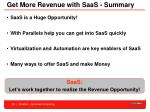 get more revenue with saas summary