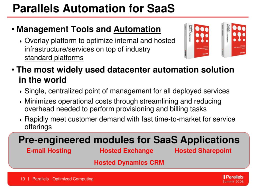 Parallels Automation for SaaS