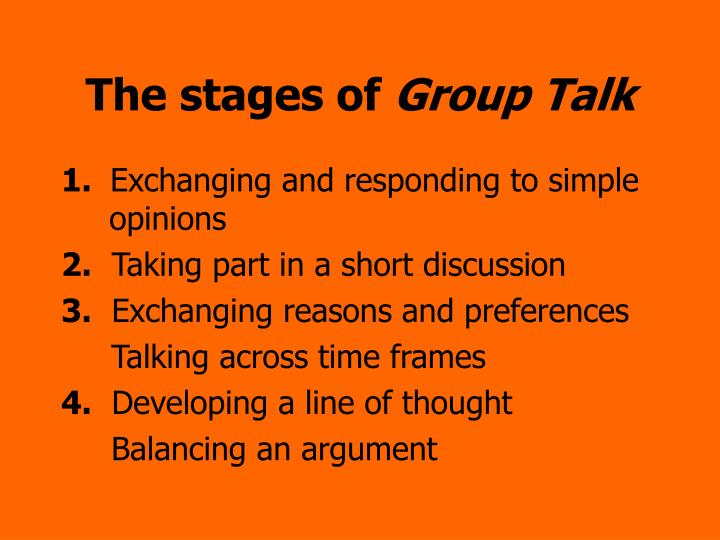 discuss the stages of group In this lesson, you will learn about the different stages of a typical counseling group, from obtaining a leader and screening members, to.
