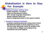 globalisation is here to stay for example