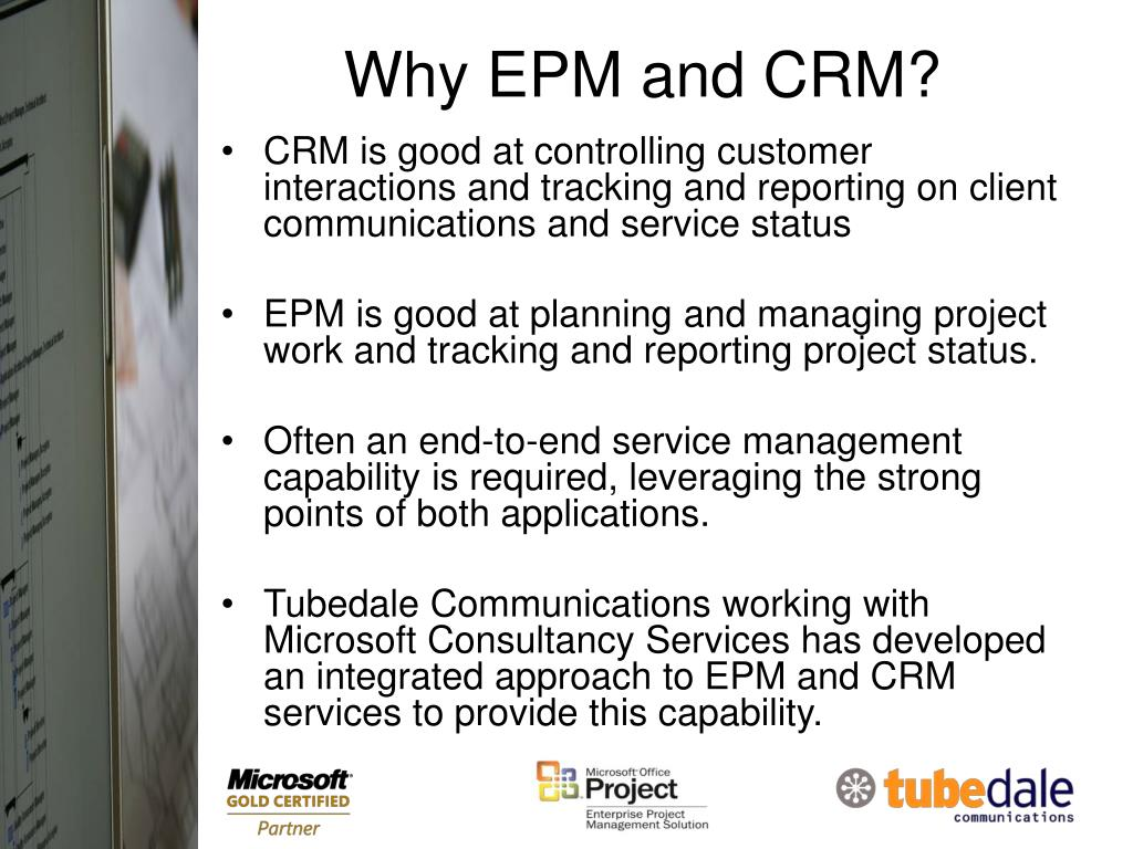 Why EPM and CRM?