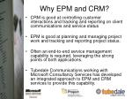 why epm and crm